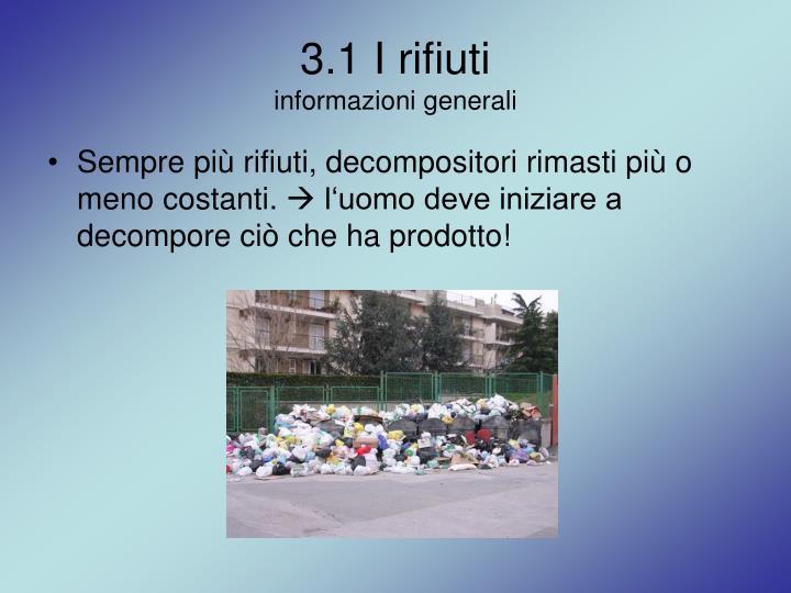 3.1 I rifiuti