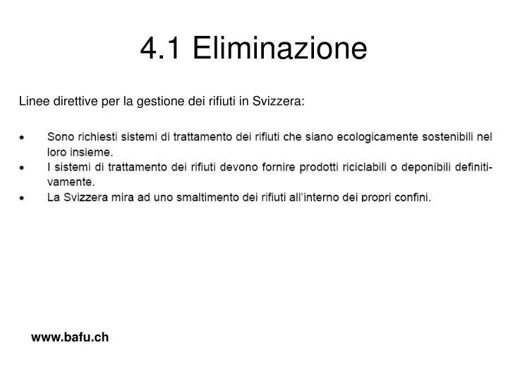 4.1 Eliminazione