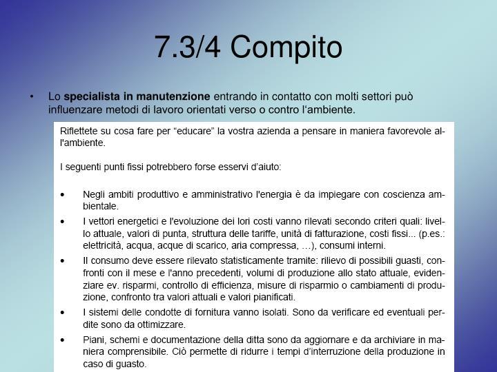 7.3/4 Compito