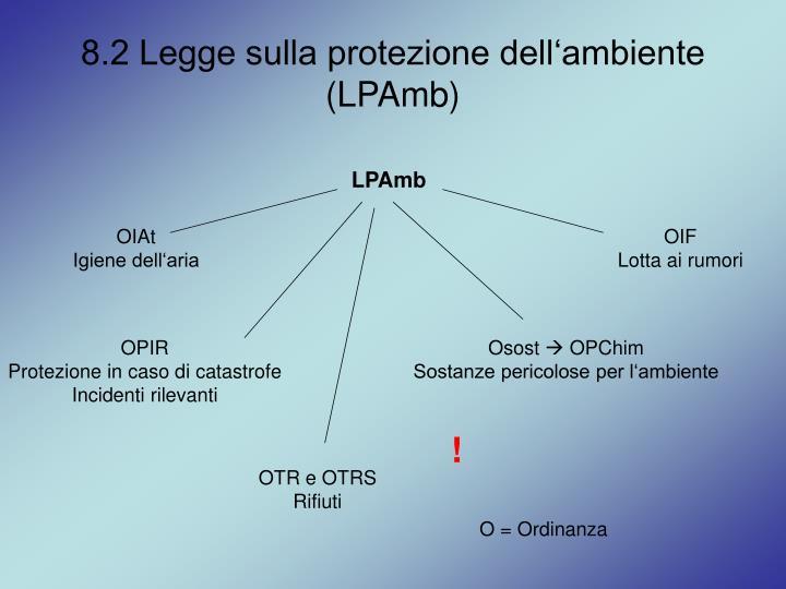 8.2 Legge sulla protezione dell'ambiente (LPAmb)