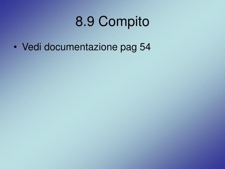 8.9 Compito