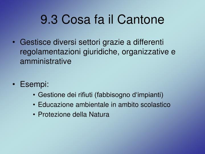 9.3 Cosa fa il Cantone