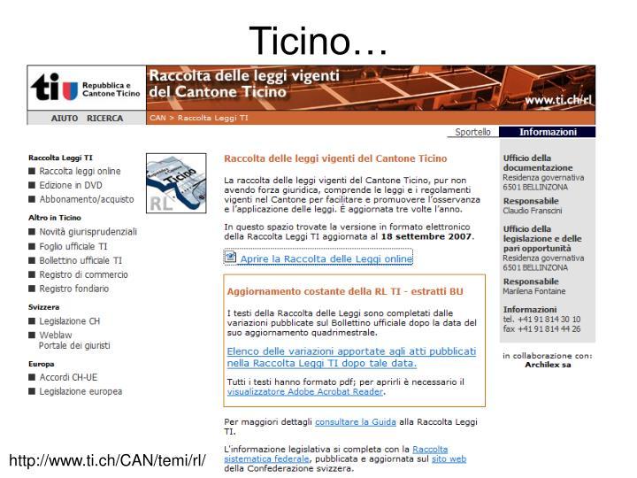 Ticino…