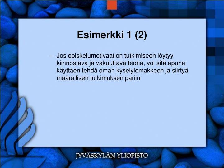 Esimerkki 1 (2)