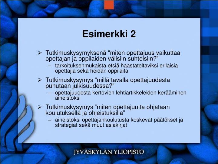 Esimerkki 2