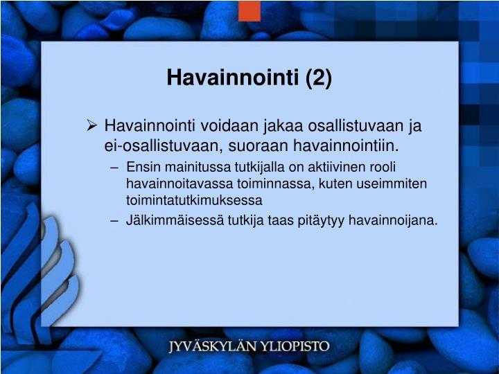 Havainnointi (2)