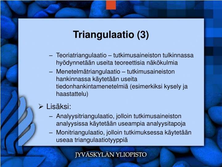 Triangulaatio (3)