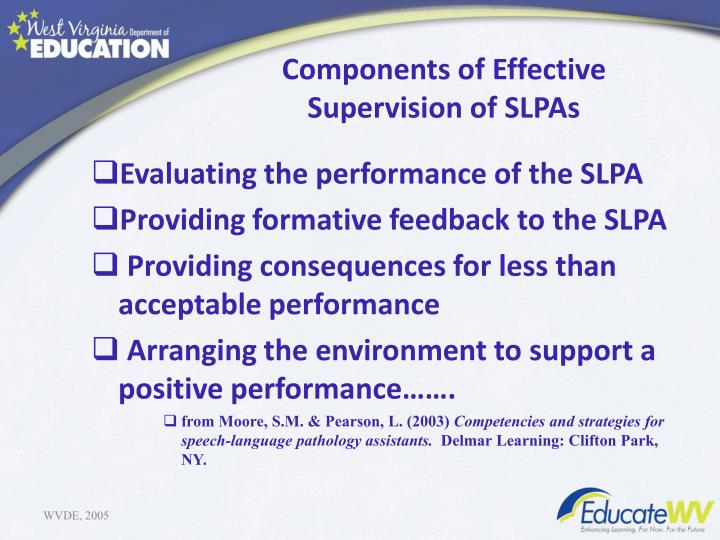identification of the components of an effective performance appraisal program Rewarding and promoting effective performance in  a performance appraisal model will be  who will benefit from early identification of performance.