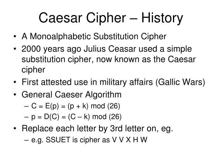Caesar Cipher – History