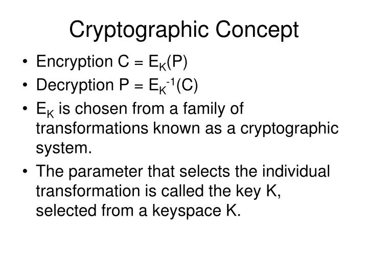 Cryptographic Concept