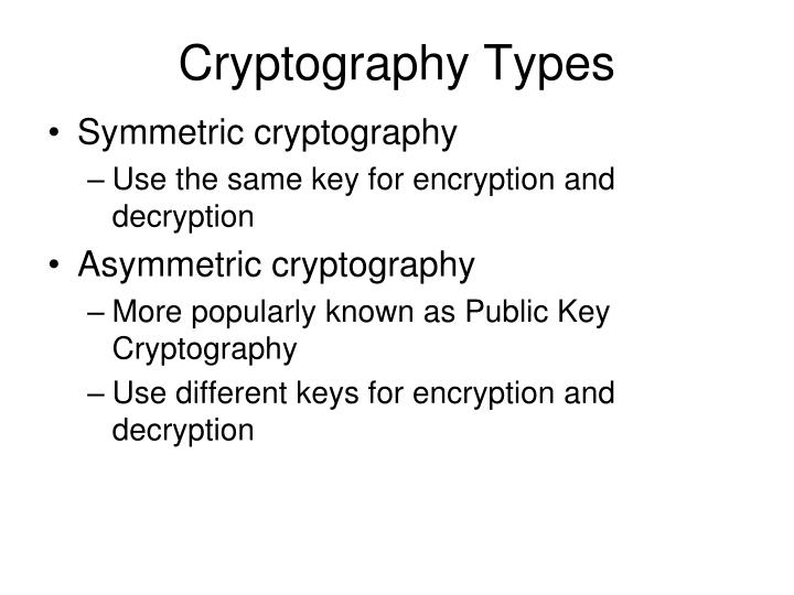 Cryptography Types