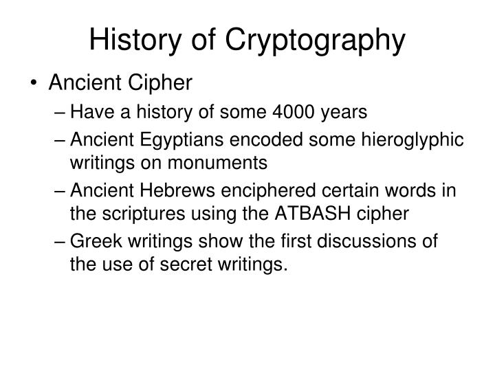 History of Cryptography