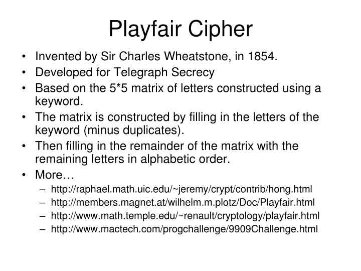 Playfair Cipher