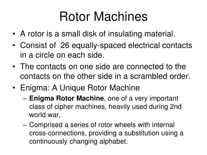 Rotor Machines