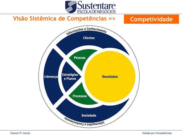 Visão Sistêmica de Competências =>