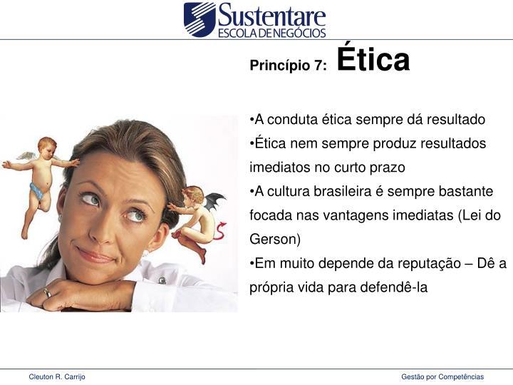 Princípio 7: