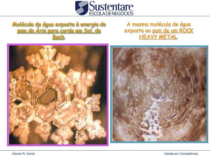 Molécula de água exposta à energia do