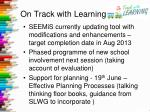 on track with learning