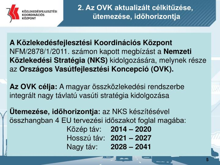 2. Az OVK aktualizált célkitűzése,