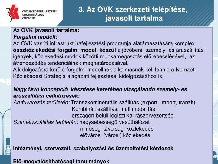 3. Az OVK szerkezeti felépítése,
