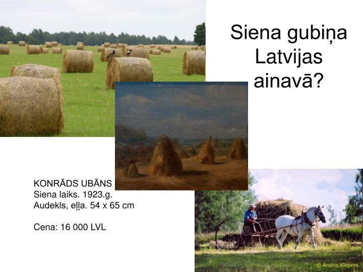 Siena gubiņa Latvijas ainavā?