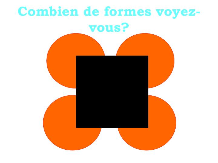Combien de formes voyez-vous
