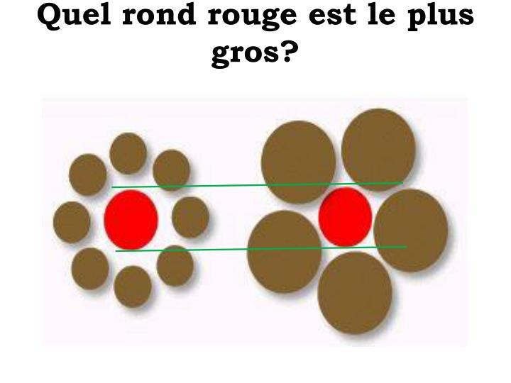 Quel rond rouge est le plus gros