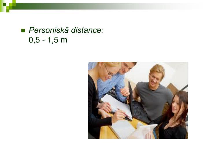 Personiskā distance: