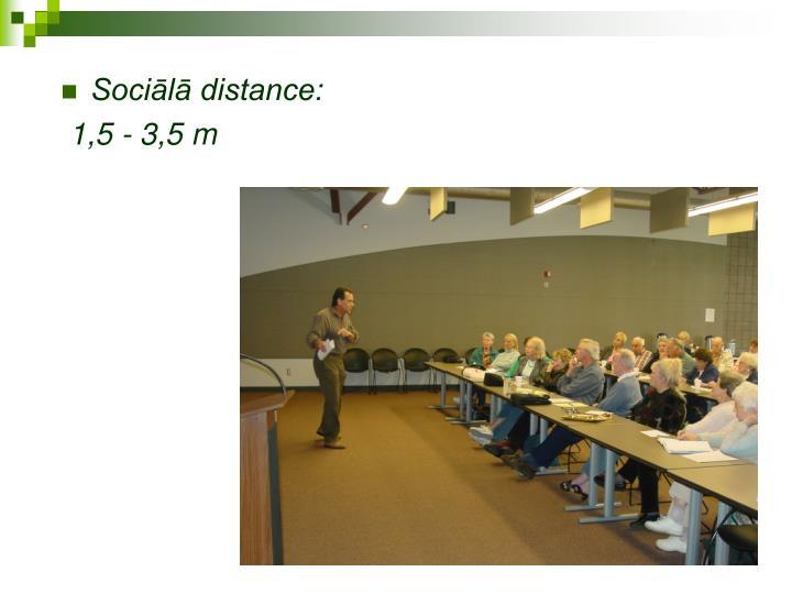 Sociālā distance: