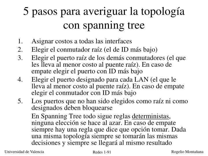 5 pasos para averiguar la topología con spanning tree