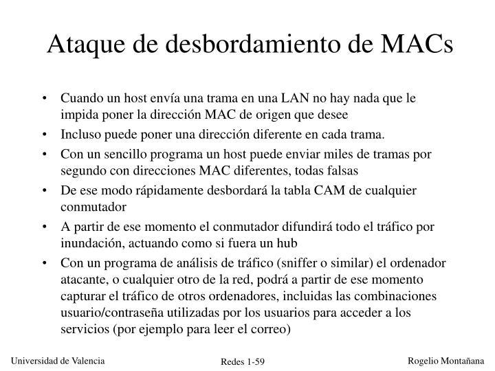 Ataque de desbordamiento de MACs