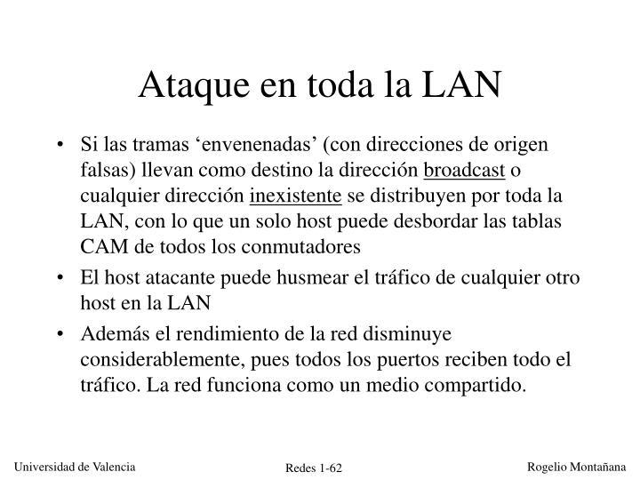 Ataque en toda la LAN