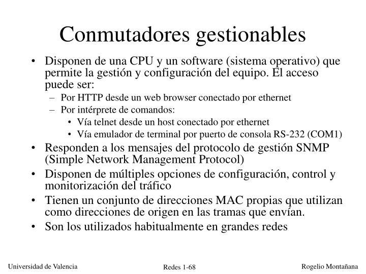 Conmutadores gestionables