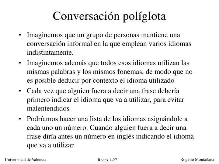 Conversación políglota