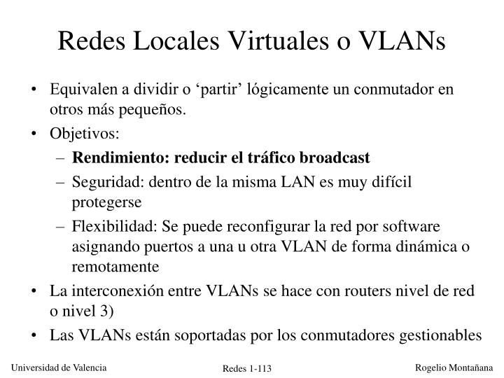 Redes Locales Virtuales o VLANs