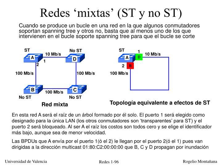 Redes 'mixtas' (ST y no ST)