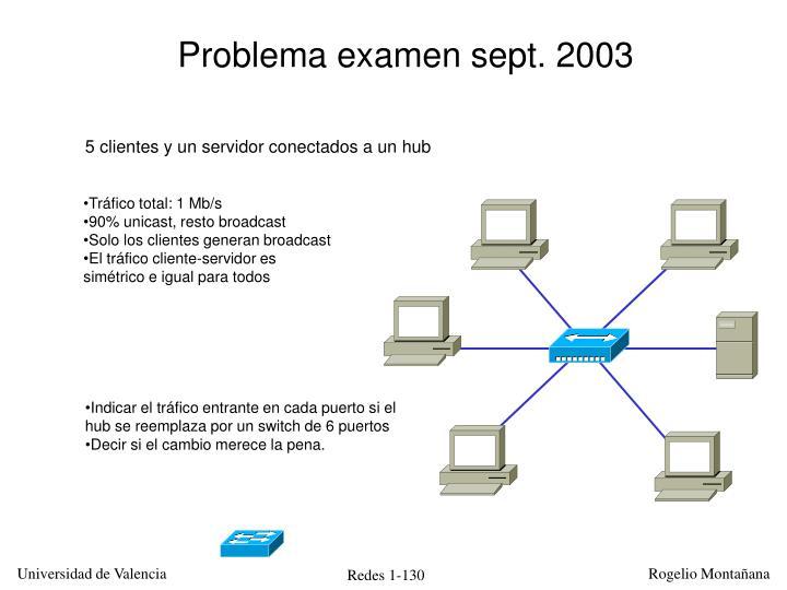 Problema examen sept. 2003
