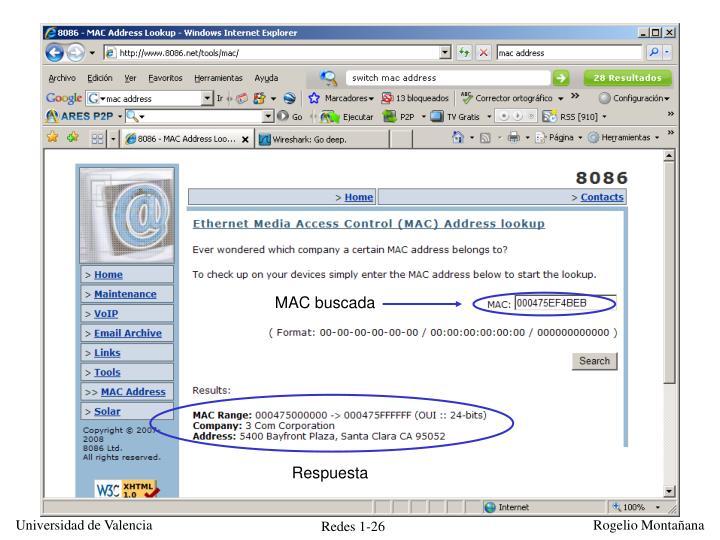MAC buscada