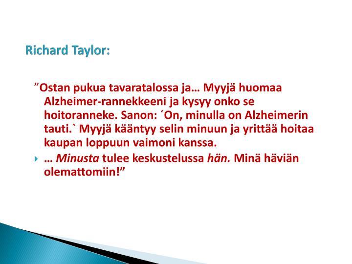 Richard Taylor: