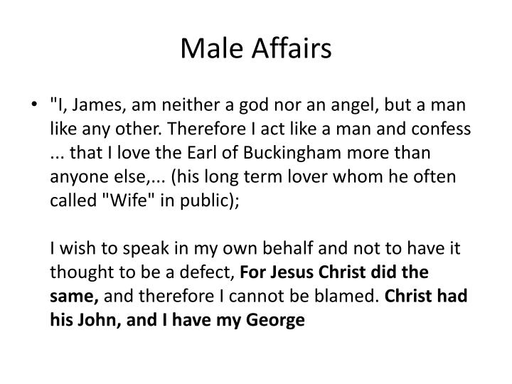 Male Affairs