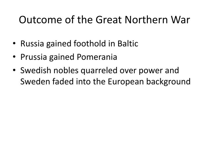 Outcome of the Great Northern War