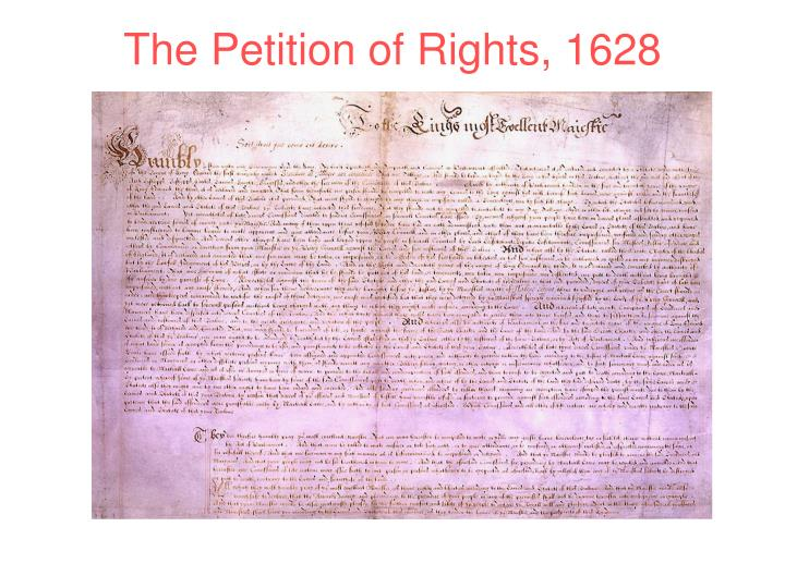 The Petition of Rights, 1628