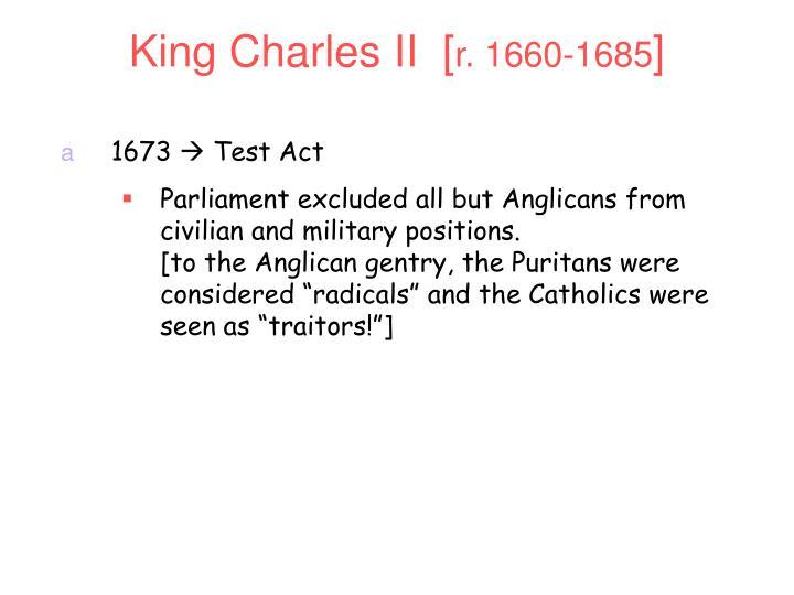 King Charles II  [