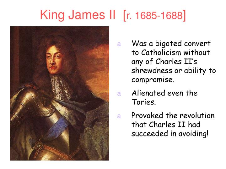 King James II  [