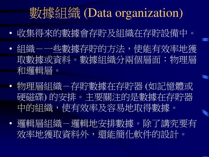 數據組織 (