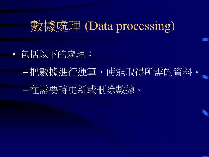 數據處理 (