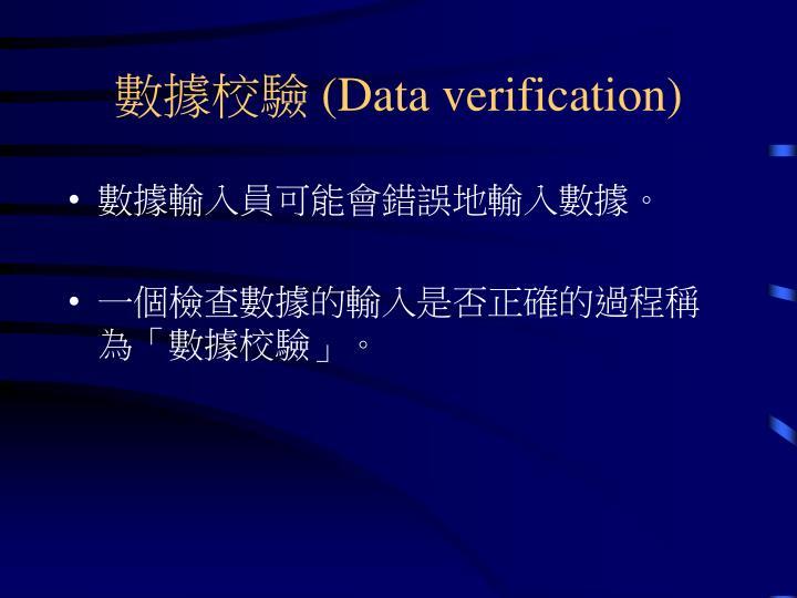 數據校驗 (