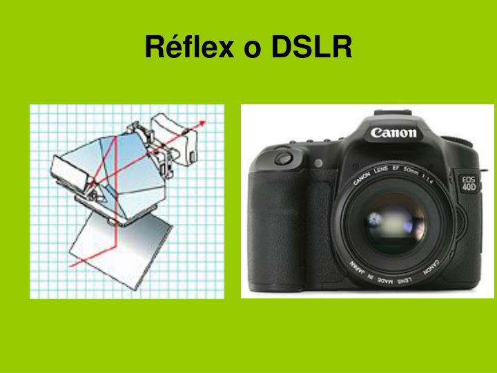 Réflex o DSLR