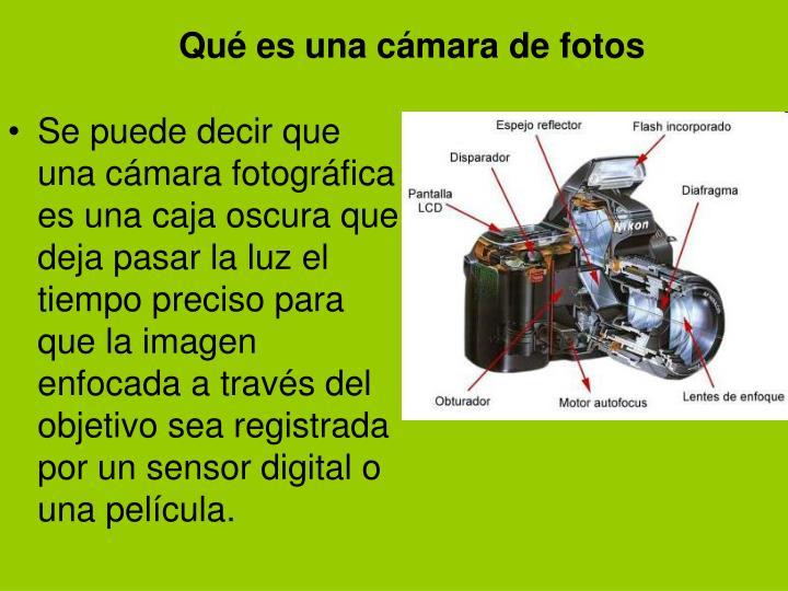 Qué es una cámara de fotos