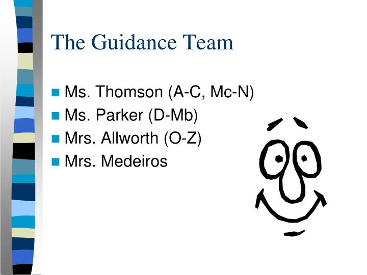 The Guidance Team
